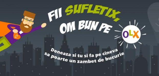 Cea mai mare donatie din Romania: fii sufletix pe OLX!